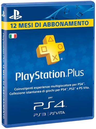 SONY ABBONAMENTO PLAYSTATIONPLUS 12 MESI PS4/PS3/PS VITA