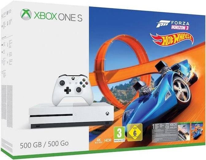 MICROSOFT CONSOLE XBOX ONE S 500 GB FORZA HORIZON 3 + DLC HOT WHEELS