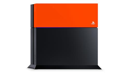 SONY PS4 COVER PERSONALIZZATE NEON ORANGE