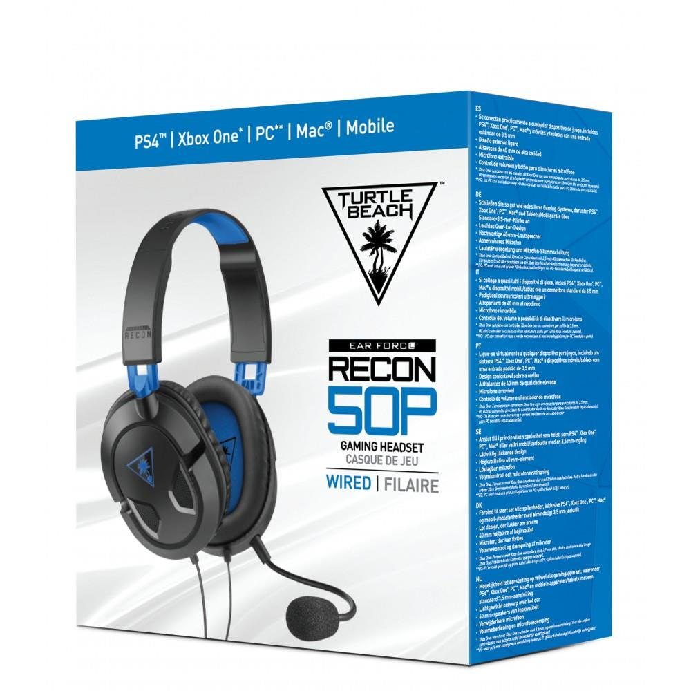 TECNO SHOP CUFFIA RECON FORCE 50P PER PS4