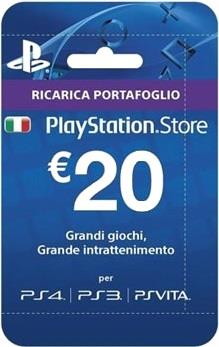 SONY RICARICHE PSN CARD PLAYSTATION PLUS HANG 20
