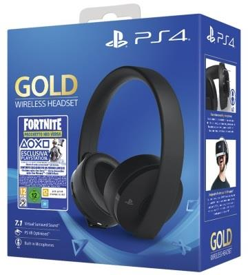 TECNO SHOP CUFFIA WIFI GOLD HEADSET + FORTNITE VHC PS4