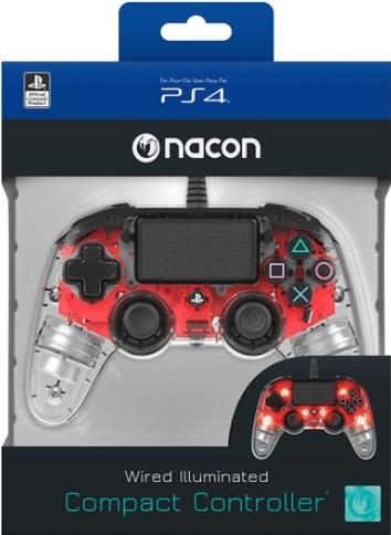 NACON CONTROLLER NACON PS4 WIRED ROSSO LUMINOSO